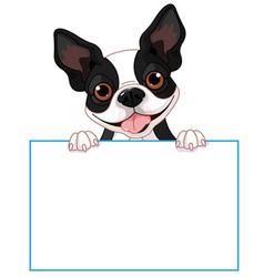 Boston terrier sign vector image vector image