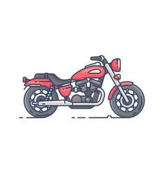 cool biker motorcycle vector image vector image