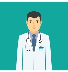 Doctor flat medical icon vector image vector image
