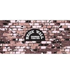 wall brick vintage background vector image vector image