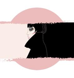 Woman in Black vector image vector image