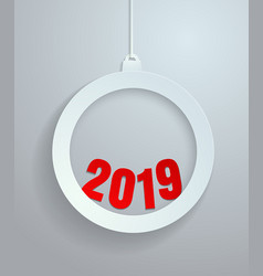 2019 cut from paper background vector