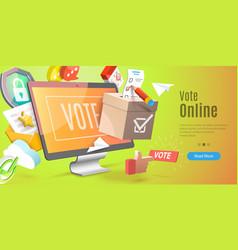 3d conceptual vote online vector image