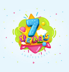 7 years vector image