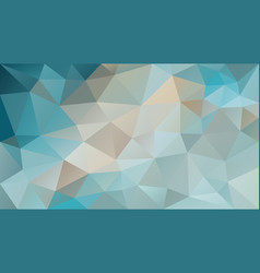 Abstract irregular polygonal background turquoise vector