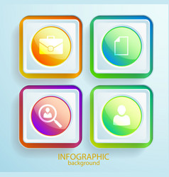 abstract web infographics vector image