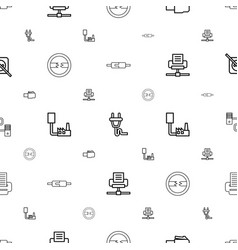adapter icons pattern seamless white background vector image