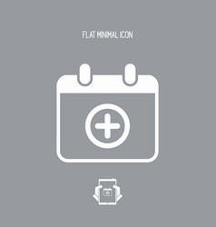 add new appointment on calendar - minimal icon vector image