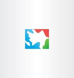 azerbaijan map icon logo vector image