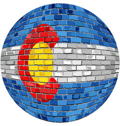 Ball with colorado flag vector