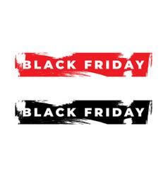 black friday minimalistic grunge sale banner vector image