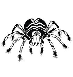 Black tarantula vector image