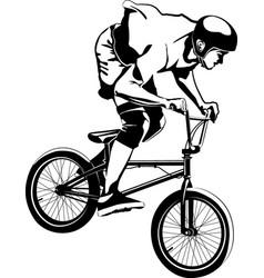 Bmx biker vector