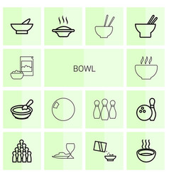 Bowl icons vector