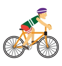Boy Wearing Protective Helmet While Riding a Bike vector