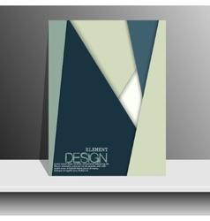 Brochure design content background Design layout vector image