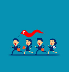 business leader holding red flag concept business vector image