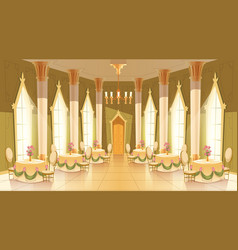 cartoon castle hall ballroom for dancing vector image