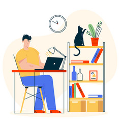 character work at home vector image