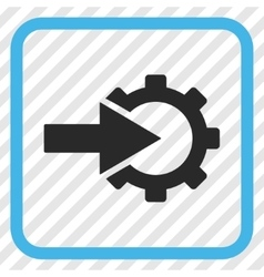 Cog Integration Icon In a Frame vector