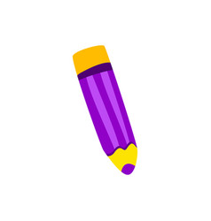 color pencil lilac cartoon vector image