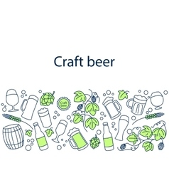 Craft beer banner vector