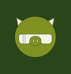 Cute pig cartoon vector