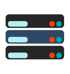 database icon flat vector image