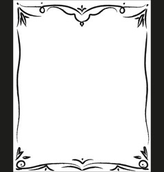Decorative black border vector