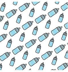 Doodle plastic bottle feeding object background vector