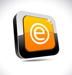 Enternet 3d square button vector