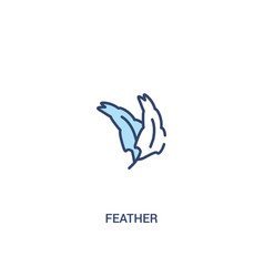 Feather concept 2 colored icon simple line vector