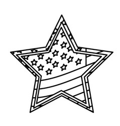 figure star independece day flag icon vector image