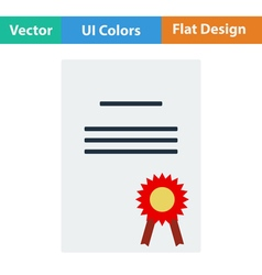 Flat design icon of Diploma vector