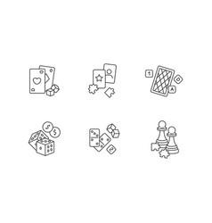 Gambling and intellectual games pixel perfect vector