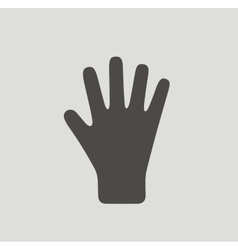 Glove icon on background vector