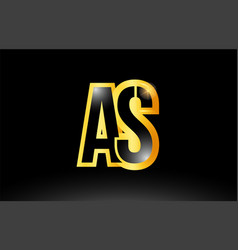 gold black alphabet letter as a s logo vector image