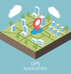 GPS isometric Isometric town map vector