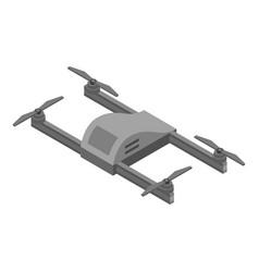 Grey drone icon isometric style vector