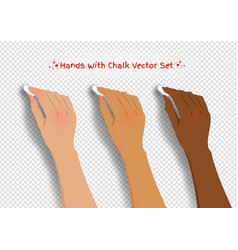 hands drawing with chalk vector image