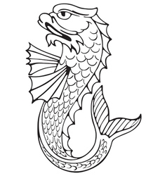 Heraldic dolphin No3 vector