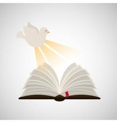 holy spirit open bible icon religion design vector image