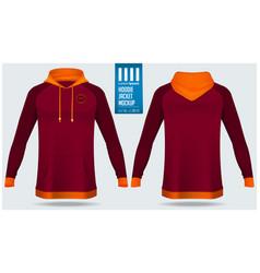 Hoodie jacket mockup template design vector