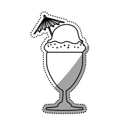 Ice cream glass dessert vector