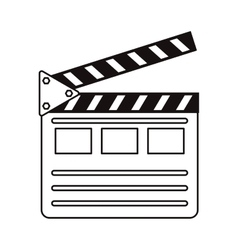 Isolated cinema clapboard design vector