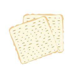 Jewish matzah bread vector