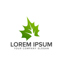 leaf green logo environmental and landscaping vector image