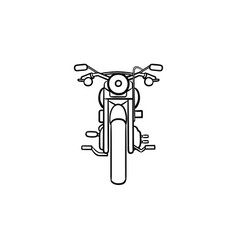 motorbike hand drawn outline doodle icon vector image