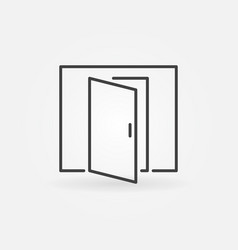 open door icon vector image