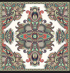 Ornamental floral arabesque paisley bandanna vector